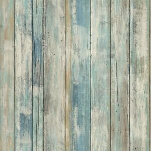 Details About Rmk9052wp Blue Distressed Wood Peel And Stick Wallpaper Free Shipping