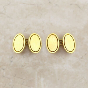 Oval-Chain-Link-Cufflinks-18ct-Yellow-Gold