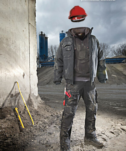 Hoody Grey//Black Reinforced w// Canvas Dassy Indy Work Hooded Sweatshirt