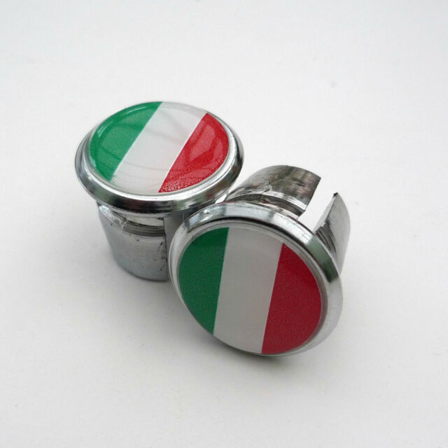 Repro Caps Vintage Style Italian//Chequered Flag Racing Bar Plugs