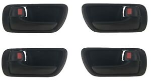 Interior Door Handle For 2002-2006 Toyota Camry Front or Rear RH Black Plastic