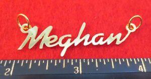 "14kt Gold Ep "" Meghan "" Personalisierter Namensschild Wort Charm Anhänger 6277 Ture 100% Guarantee Uhren & Schmuck"