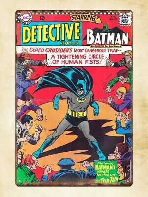 Marvel comics Batman Detective metal tin sign reproductions for business