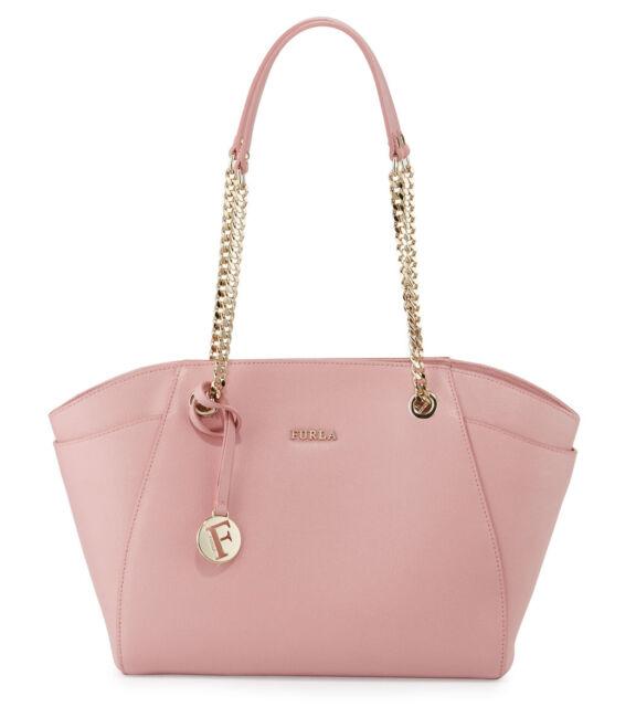 Furla Julia Winter Rose Medium Leather Tote Bag Handbag for sale ... b964d32d4378d