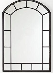 spiegel wandspiegel fenster design stahl rahmen wanddeko 120cm, Hause deko