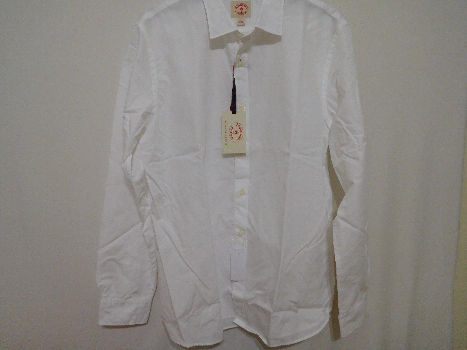 Brooks Bros Men Nine to Nine Slim Fit Shirt -  Large L NEW MenDamensStyles