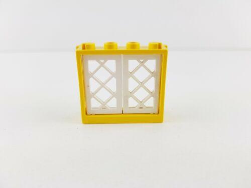 Lego®  Fenster gelb 1x4x3 3853 mit weißen Gittern 2529 6285 10040