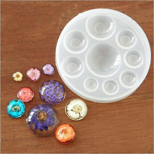 Round Silicone Mold Resin Jewelry Necklace Pendant Mould DIY Craft Kits SW
