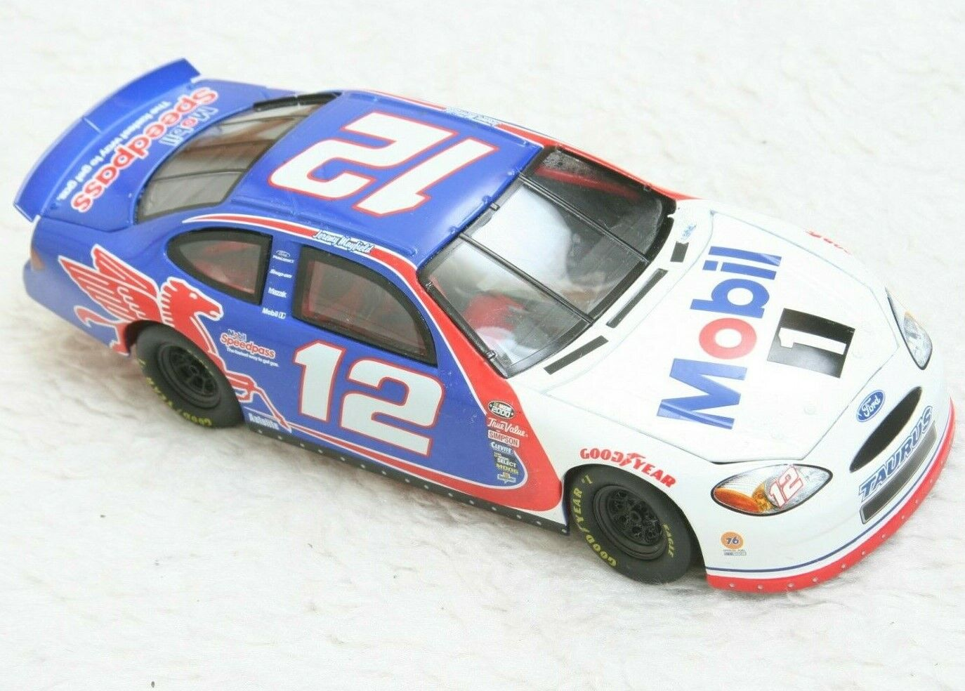 Mattel Nascar Die Cast Toy Race Car Car Car 1 24 1999 Mobil 1 Jeremy Mayfield bluee 84c139
