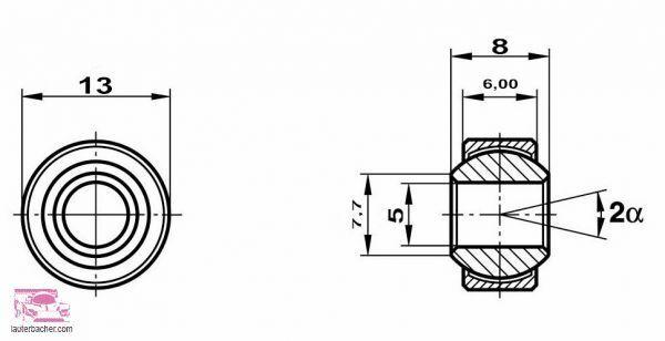 Bujes de bola de acero de Lauterbacher originales 10pcs. Grado de daño artículo 1511382