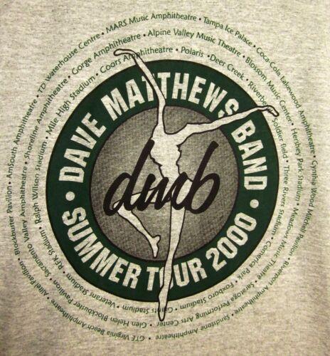 DAVE MATTHEWS BAND new T shirt XL tee 2000 summer tour Charlottesville jam-band