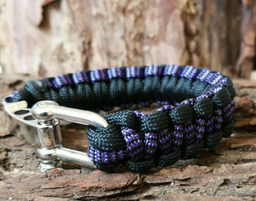 Multi Colored Réglable Paracord Bracelet Boucle Manille survie UK