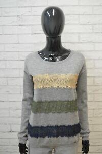 Maglione-LIU-JO-Donna-Taglia-XL-Pullover-Cardigan-Sweater-Woman-Cashmere-Felpa