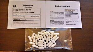 30-Pure-Sulbutiamine-Powder-Capsules-500mg-each-High-Absorption-Nootropic