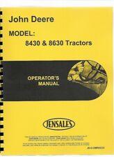 John Deere 8430 8630 Tractor Operators Owners Manual Diesel 4wd Omr65222