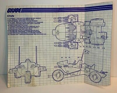 Original Blueprint GI Joe Cobra STUN Vehicle