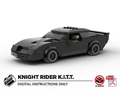 Ben Informato Lego Moc | Knight Rider Kitt | Pontiac Firebird | Pdf Istruzioni (no Mattoni)-mostra Il Titolo Originale Eppure Non Volgare