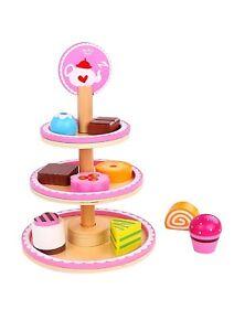 Tooky-Toys-Ninos-Postre-Soporte-Madera-Parque-Infantil-amp-Accesorios-Juguete
