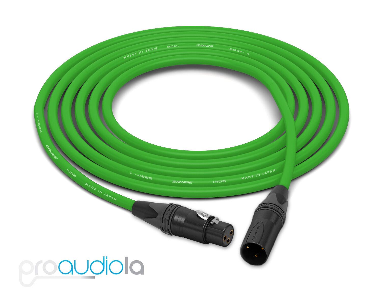 Canare Quad L-4E6S Cable   Neutrik Gold XLR-F XLR-M   Grün 75 Feet   75 Ft. 75'