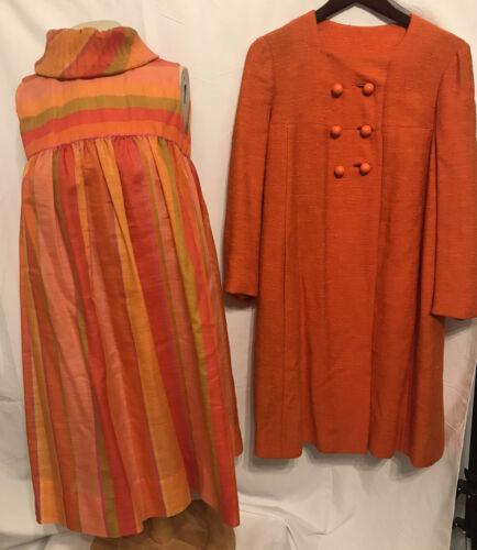 Vtg 1970s 1960s Youth Guild Babydoll Dress Coat Or