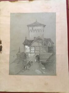 c1850-Continental-Tower-Or-Gatehouse