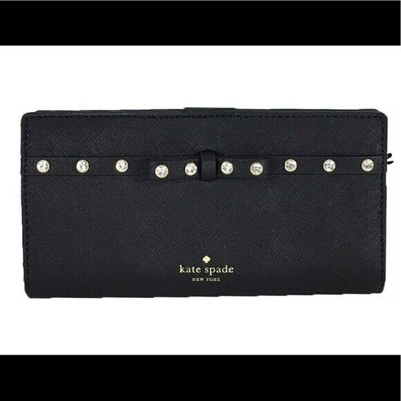 Authentic Kate Spade Laurel Way Jeweled Stacy Clutch Wallet NWT