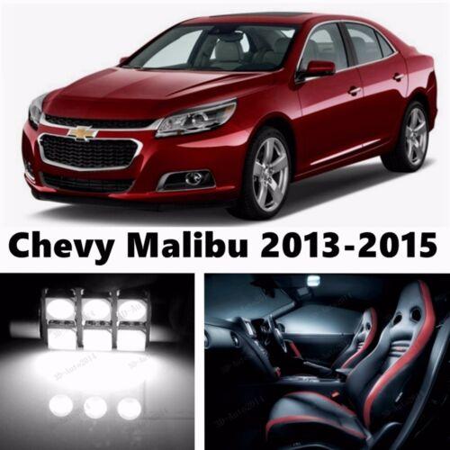 15pcs LED Xenon White Light Interior Package Kit for Chevy Malibu 2013-2016