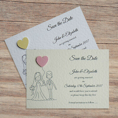 x10 Personalised Wedding Day// Evening Invitations 3D Glitter Heart /& Envelopes!