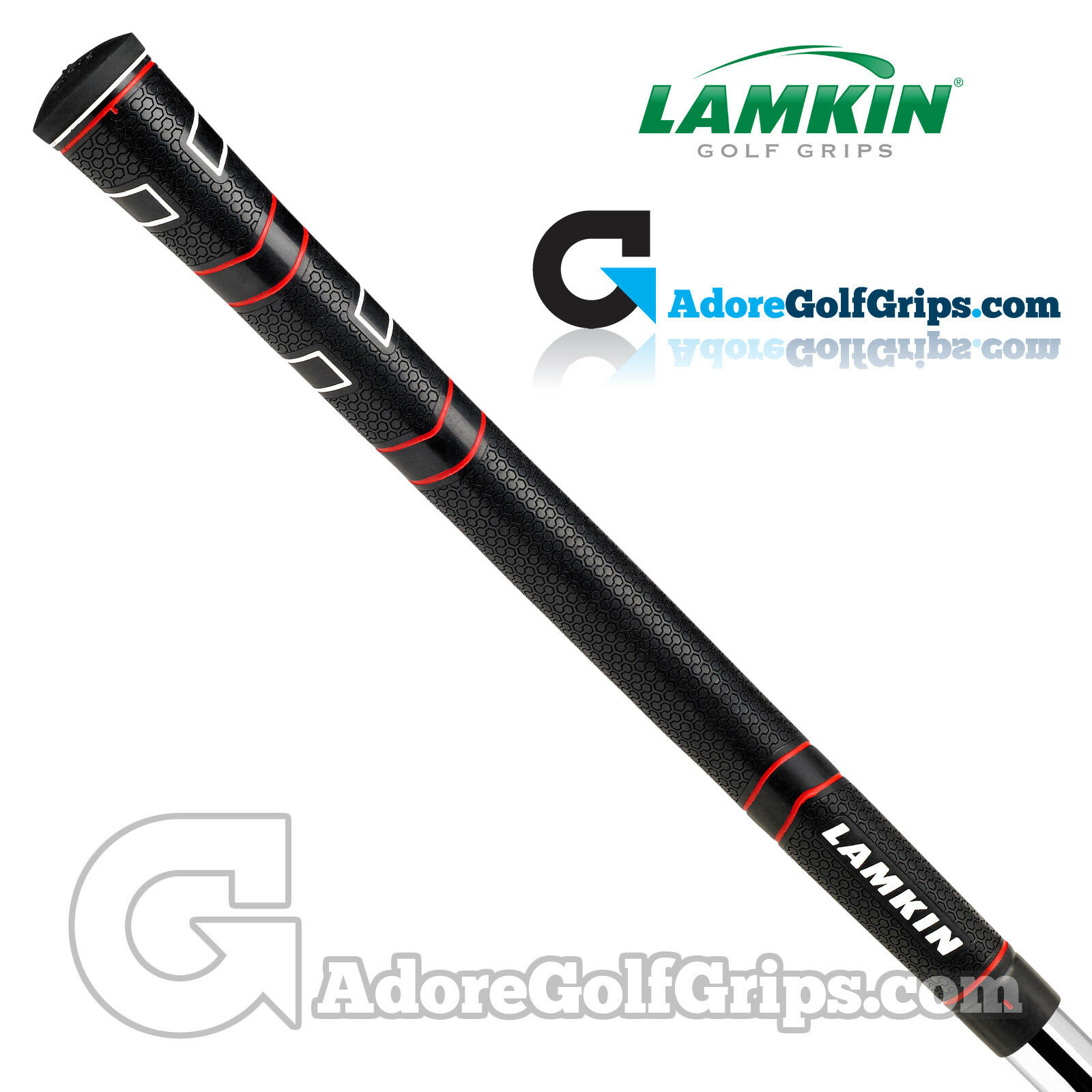 Lamkin Empuñaduras Confort Estándar  Plus-Negro Rojo blancoo X 9  barato