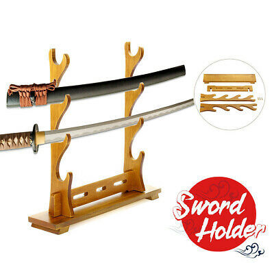 Mini Samurai Sword Katana Tanto Stand Holder Sandalwood Sword Display Rack 30g