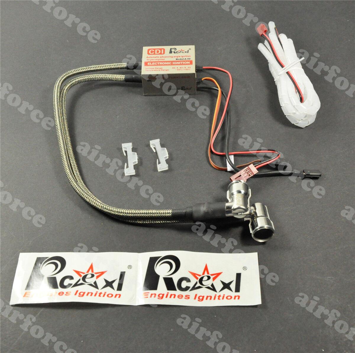 1set  Rcexl twin ignition for NGK -CM6-10MM 90degree+Hall Sensor FM