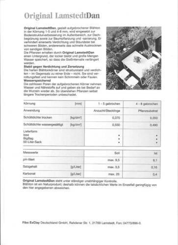 10L Blähton gebrochen Lamstedt Dan Semi Hydrokultur Leca Hydroton Hydrokulturen