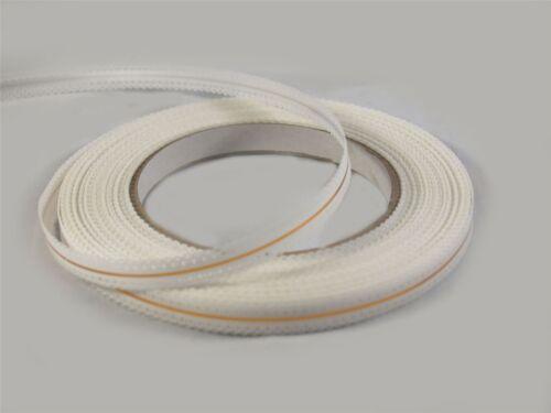 10mm x 25yards Poly Decorative Ribbon White 3604