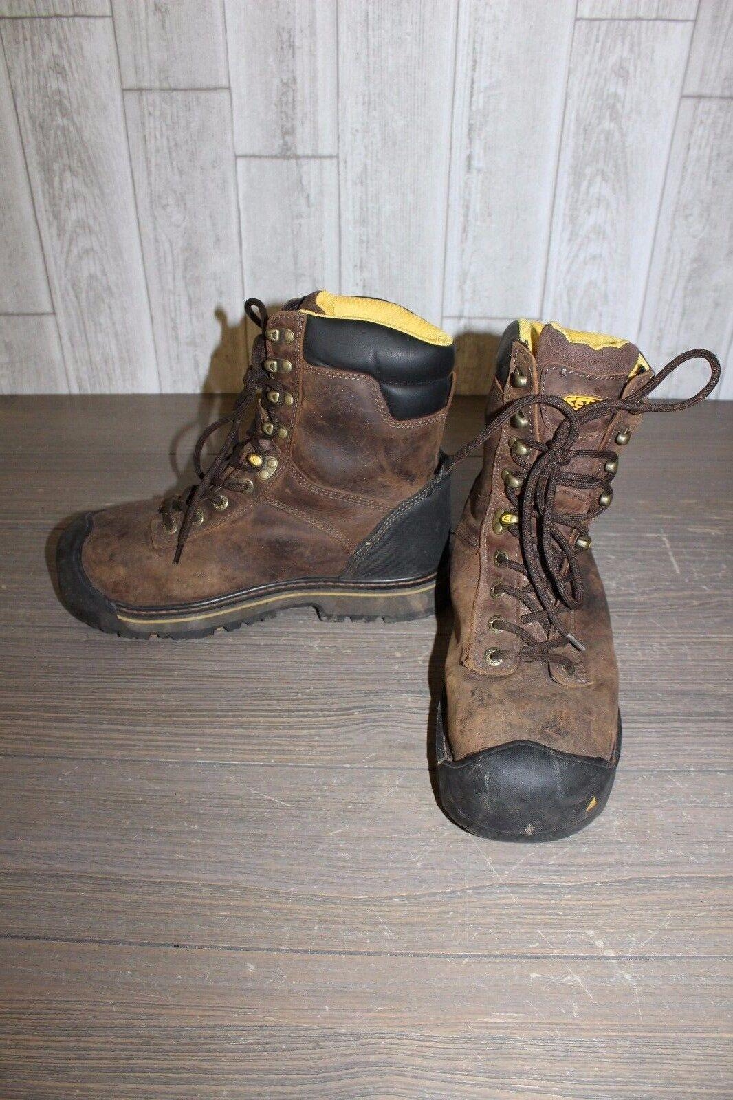 Keen Wenatchee 8  Steel Toe Waterproof Work Boot - Men's Size 10 - Brown Repair