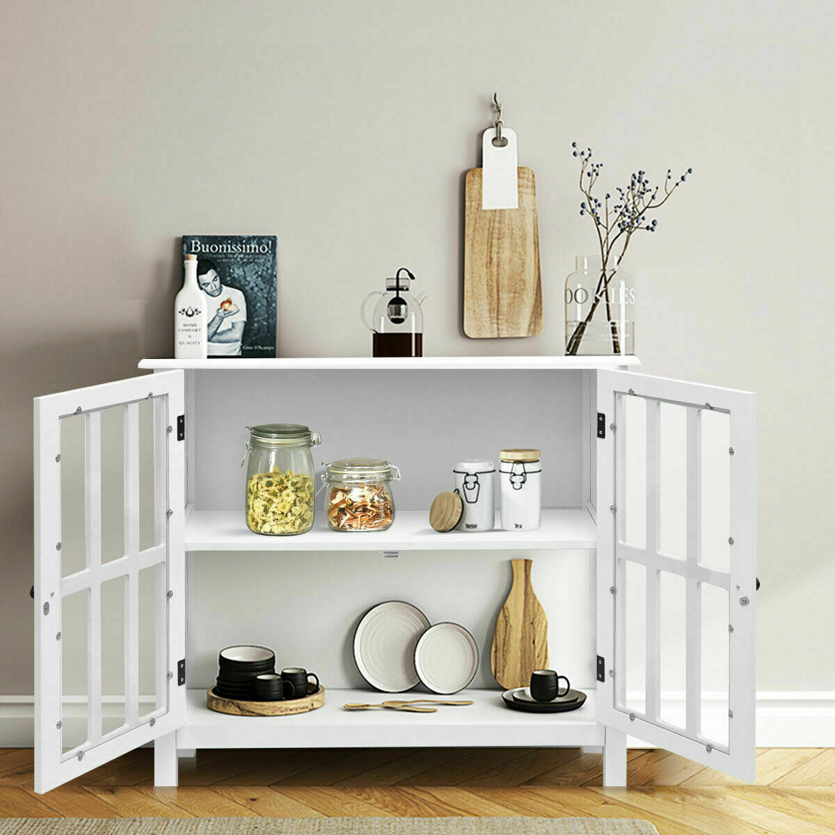 Buffet Server Sideboard Wine Cabinet Console Wooden Kitchen Storage Furniture For Sale Online Ebay