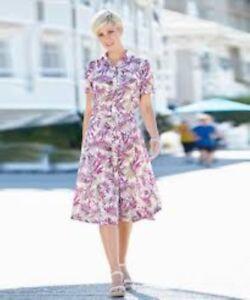 Damart-Print-Dress-Orchid-Print-Size-UK-20-LF087-AA-17