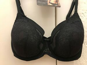 Lovely BNWH M/&S Autograph black French lace padded full cup bras 34B /& 38C