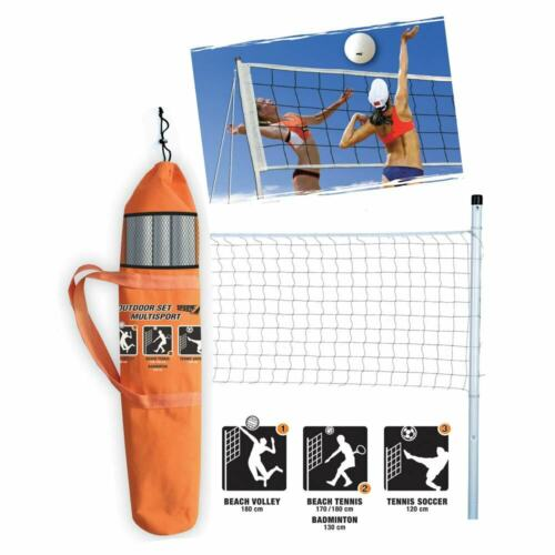 Tennis Soccer PS 06760 Set Multisport Rete Beach Volley Badminton