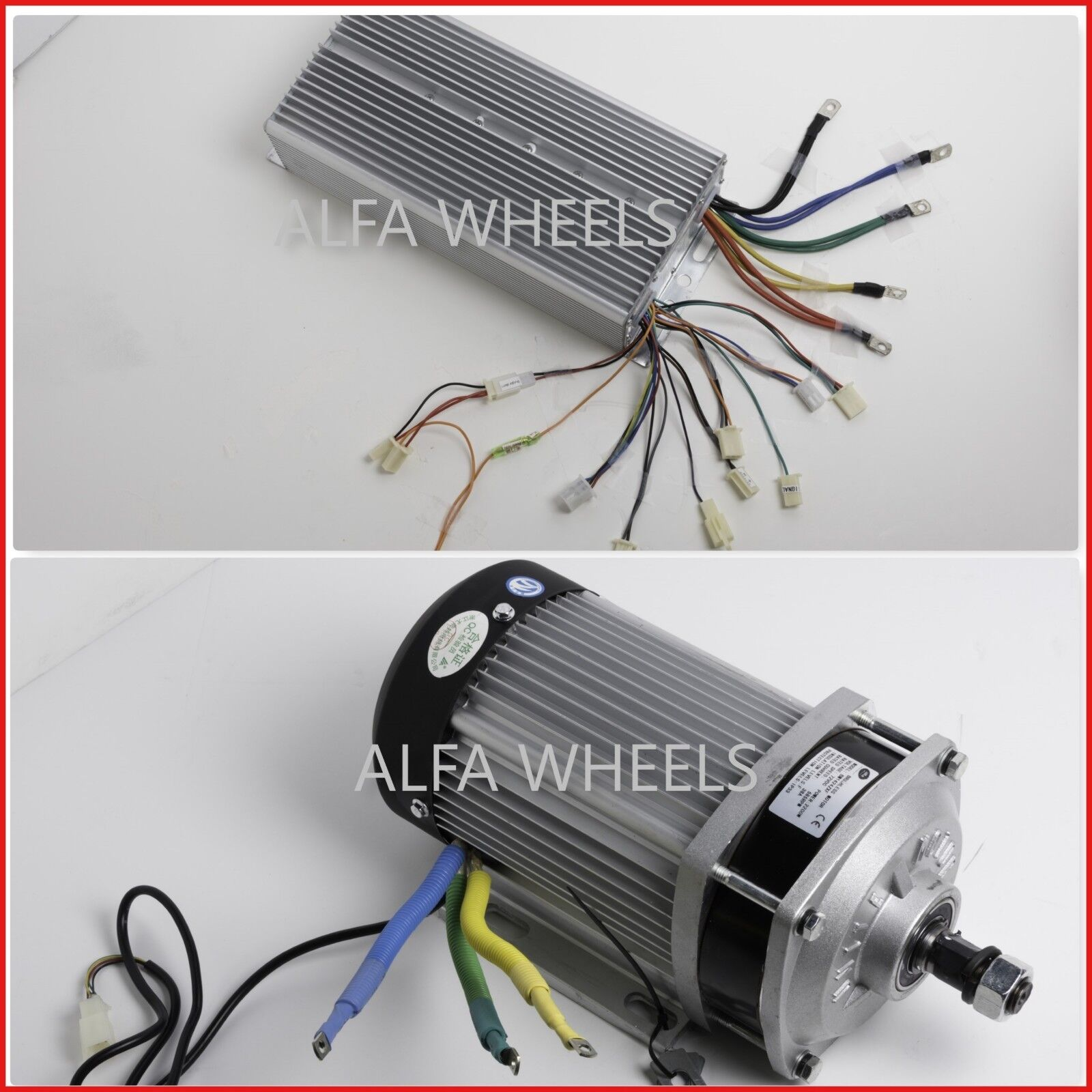 60 Volt 1500 Watt Electric GoKart Brushless Motor Gear 585-600 RPM w Controller