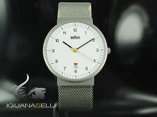 Braun Classic date Quartz watch, White, 40mm. BN0032-WHSLMHG