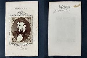 Figaro-Album, Bernard Villemot, affichiste Vintage cdv albumen print.Bernard V