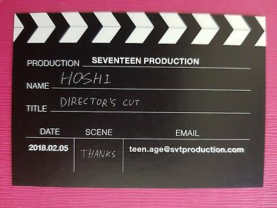 SEVENTEEN WOOZI PLOT Ver Official PHOTOCARD Special Album Director/'s Cut 호시