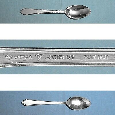 """S ~ WILLIAM /& MARY ~ NO MONO LUNT STERLING 6/"""" TEASPOON"""
