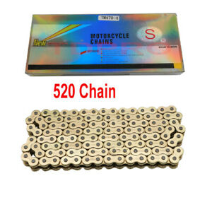 Gold-520-Motorcycle-Chain-120-Links-O-Ring-for-Pit-Dirt-Bike-Trail-ATV-QUAD