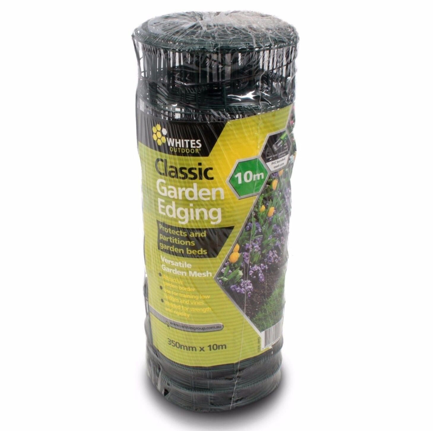 blancoos al aire libre de PVC Clásico Ribete De Jardín verde AUS Marca - 350mmx10m o 350mmx20m