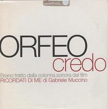 Orfeo-Credo OST Ricordati di me Cd Single Promo  Cardsleeve NM 2003 One Track