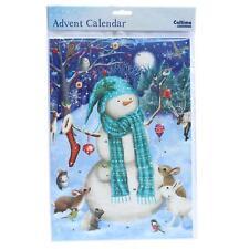 Compte À Rebours De Noël Calendrier L'avent 24 Fenêtres 389740 Bonhomme Neige