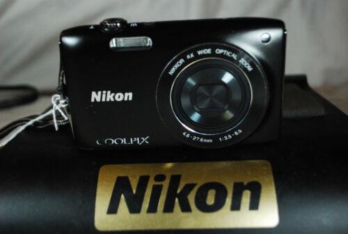 Nikon Coolpix S3200 16MP Fotocamera Digitale Compatta-CONDIZIONE EXC scelta di colori