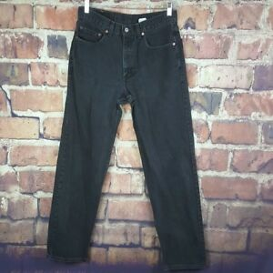 Levi-039-s-550-Relaxed-Fit-Mens-Jeans-Size-33X34-Black-Actual-32X31