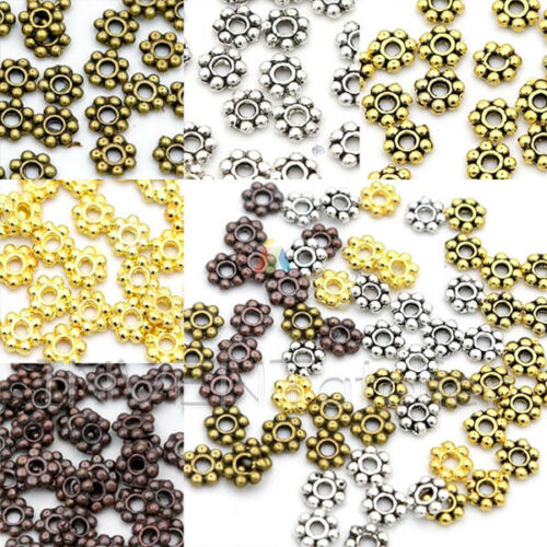 TINY DAISY Spacer 4mm Beads Jewellery Making FINDINGS Assorted Colours